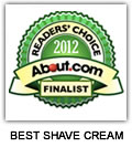 The Bluebeards Revenge named runner up in About.com's 2012 Readers' Choice Award for Best Shave Cream