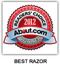 The Bluebeards Revenge 'Scimitar' named world's best razor in About.com's 2012 Readers' Choice Award for Best Shave Cream