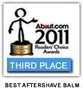The Bluebeards Revenge named third in About.com's 2011 Readers' Choice Award for Best Aftershave Balm
