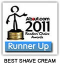 The Bluebeards Revenge named runner up in About.com's 2011 Readers' Choice Award for Best Shave Cream