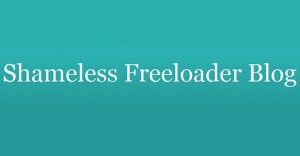 shameless freeloader blog logo