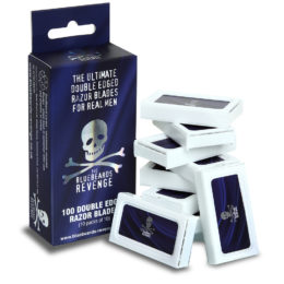 The Bluebeards Revenge Pack of 100 Double-Edge Razor Blades (10 Packs of 10)