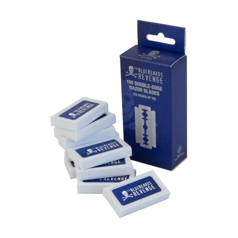 multi-pack of double-edge razor blades by the bluebeards revenge