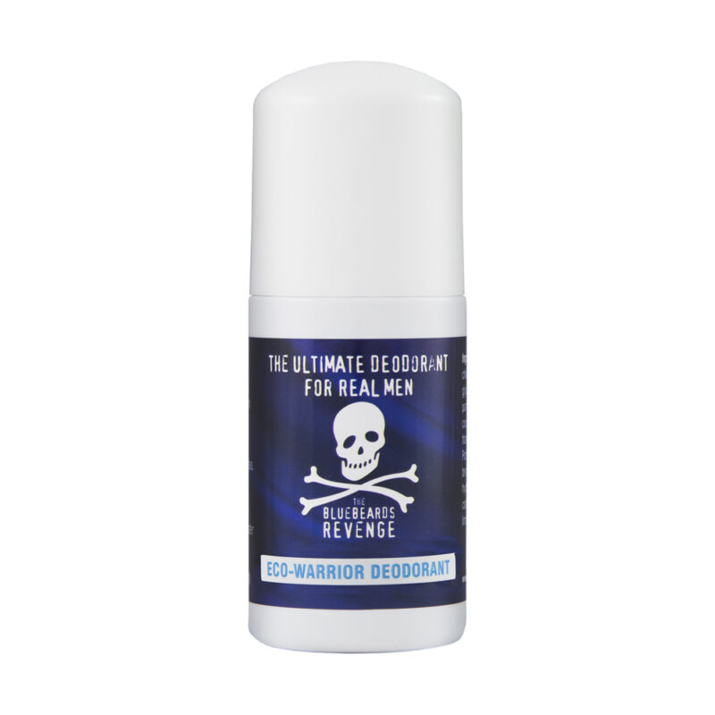 aluminium and silver free roll-on eco warrior deodorant for men by the bluebeards revenge