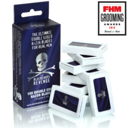 The Bluebeards Revenge Pack of 100 Safety Razor Blades (10 Packs of 10)