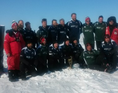 Arctic Rugby Challenge team set new Guinness World Record with charity North Pole match