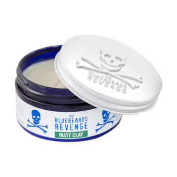 vegetarian friendly Matt Clay men's hairstyling product with a barbershop scent by the bluebeards revenge