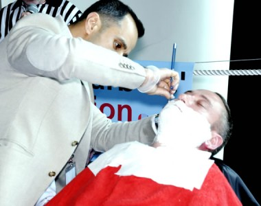 Rugby barber to perform blind wet shave at this year's Scottish Barber trade show