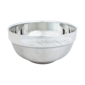 stainless steel traditional wet shaving bowl for shaving soaps and creams by the bluebeards revenge