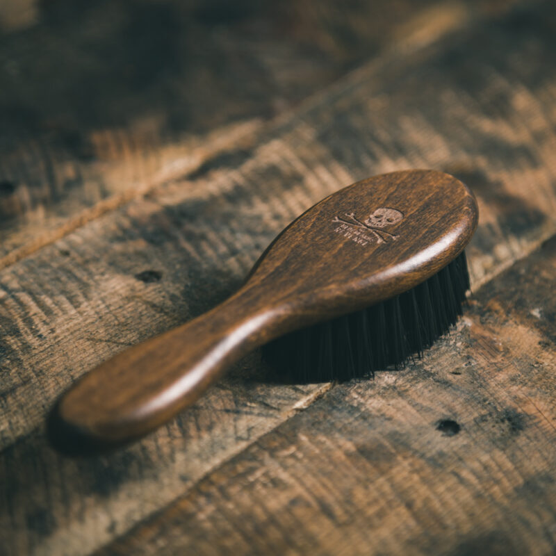 Wooden Fade Brush for professional barbers and hairstylists by The Bluebeards Revenge