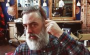 Side-Parted Pompadour, men's hairstyle, beard, The Bluebeards Revenge, Tom Chapman