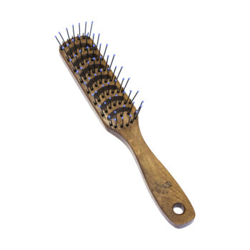 wooden vent brush for styling men's hair in barbershops and salons by the bluebeards revenge