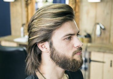 How to cut and style long hair for men – collar-length sweep back
