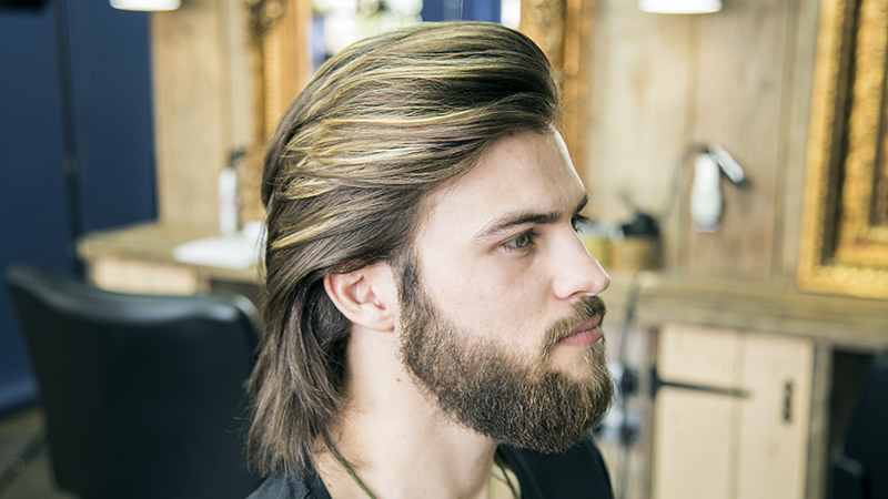 How To Cut And Style Long Hair For Men Collar Length Sweep Back