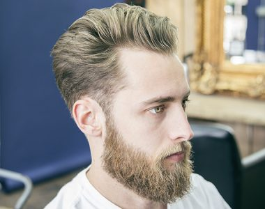 How to cut and style a textured pompadour