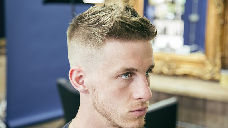 military high and tight haircut for men
