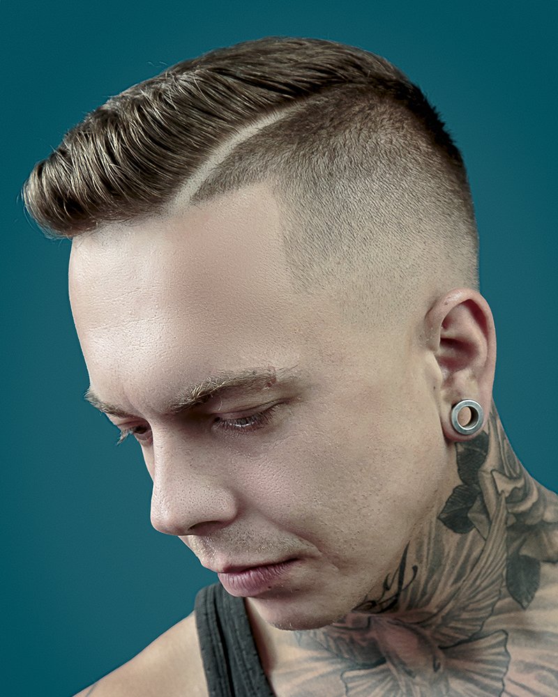 How To Cut And Style A Mens Mid Fade Haircut With A Side Parting