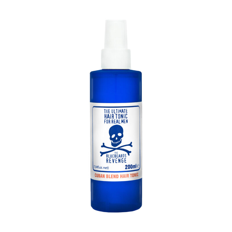 traditional barbershop hair tonic with a light hold and woody cuban scent by the bluebeards revenge