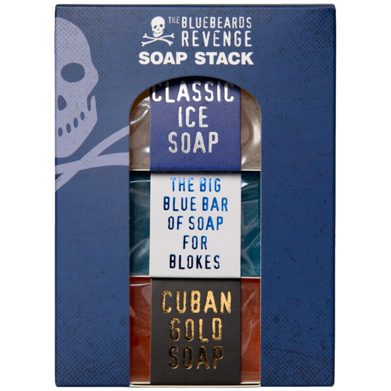 men's hand and body soap stack gift set in gift box by the bluebeards revenge