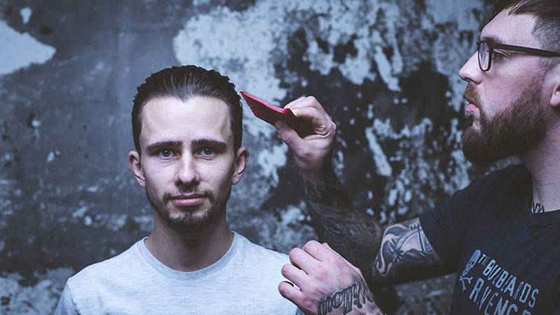 how to style a men's disconnected undercut hairstyle with the bluebeards revenge