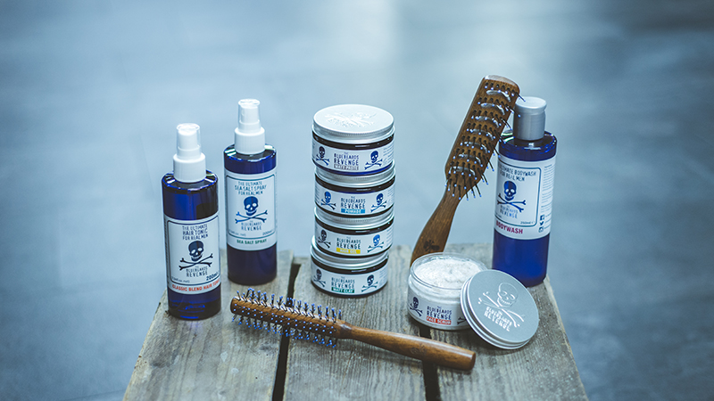 mens hair, shave, beard and body products from the bluebeards revenge