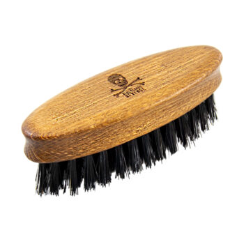 pocket-sized wooden travel beard brush by the bluebeards revenge