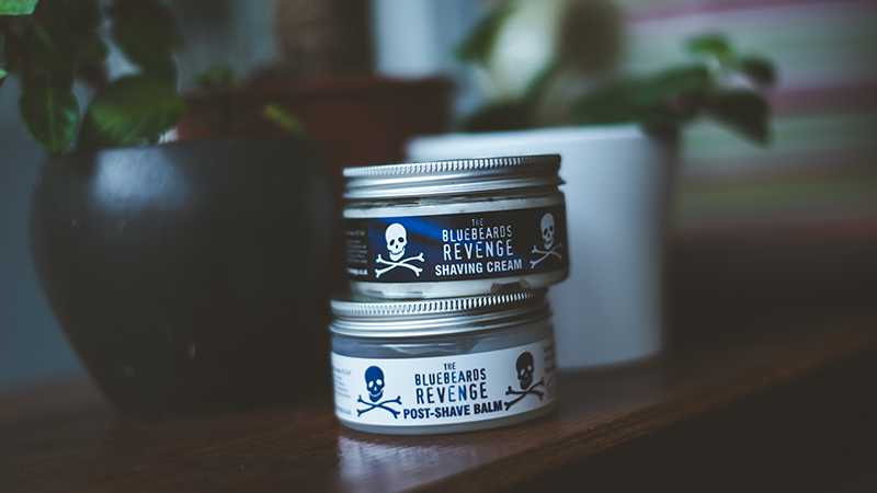 shaving cream and post-shave balm kit by the bluebeards revenge