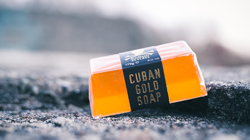 bluebeards revenge cuban gold soap bar out in the elements