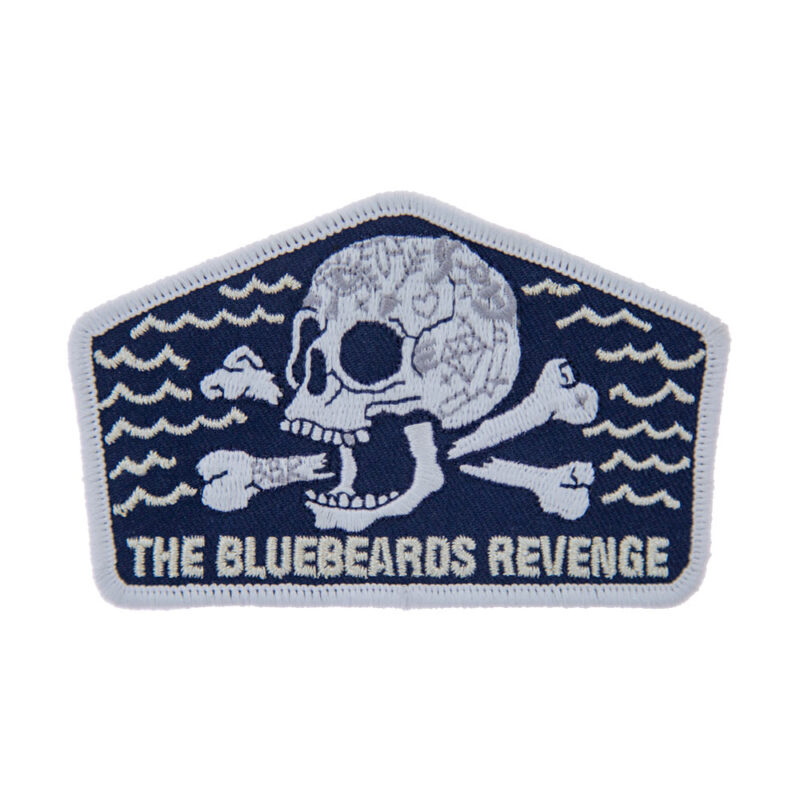 sew on skull and crossbones patch by the bluebeards revenge