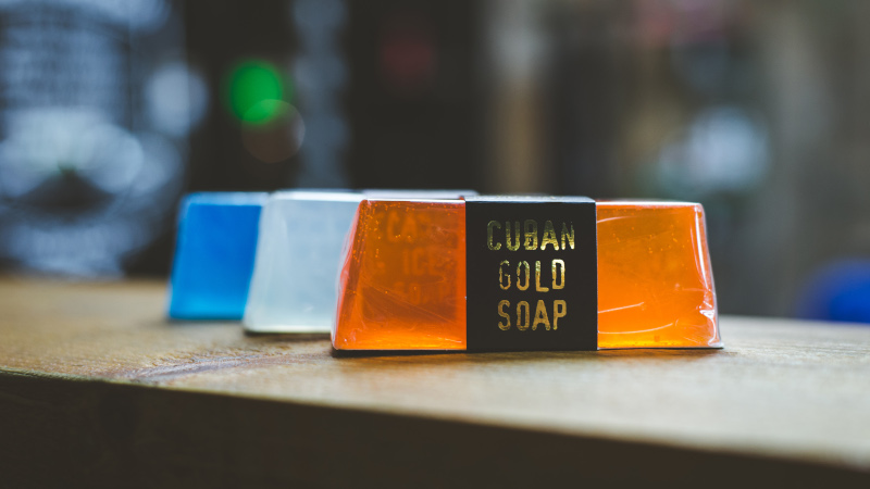 vegan friendly SLS free hand and body soap bars by the bluebeards revenge