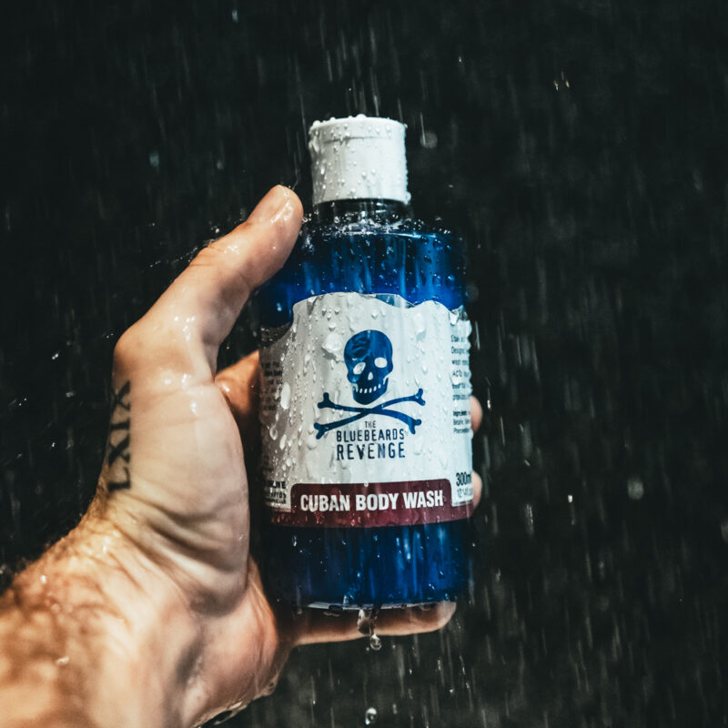 Vegan Friendly Shower Gel for men with a rich and woody cuban scent by the bluebeards revenge